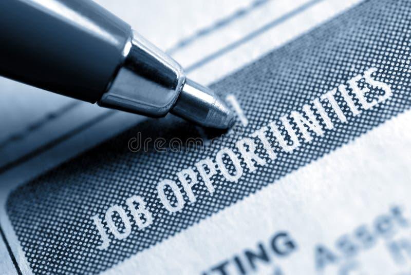 Opportunità di lavoro Calssified immagine stock