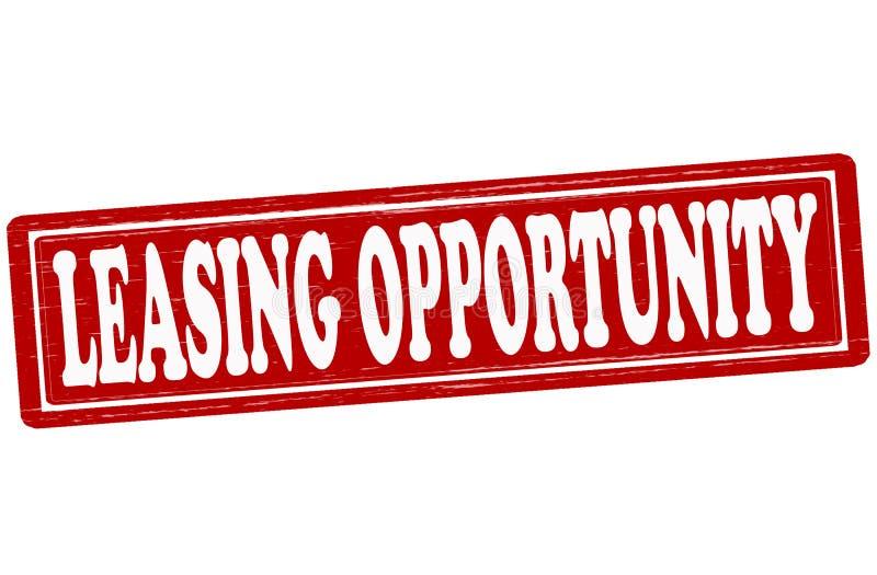 Opportunità di leasing illustrazione di stock