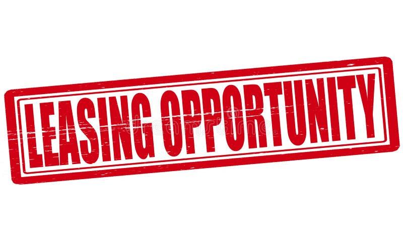 Opportunità di leasing illustrazione vettoriale