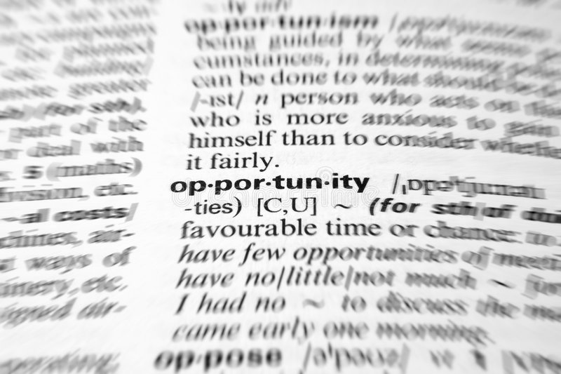 Download Opportunity stock photo. Image of closeup, depth, dictionary - 7750492
