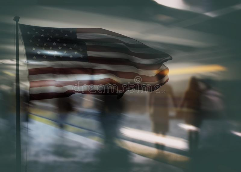 Can do- American dream concept. Opportunity can do- American dream concept stock image