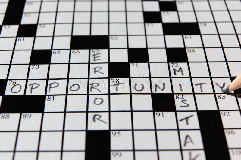 Download Opportunity Crossword Stock Photo - Image: 17381370