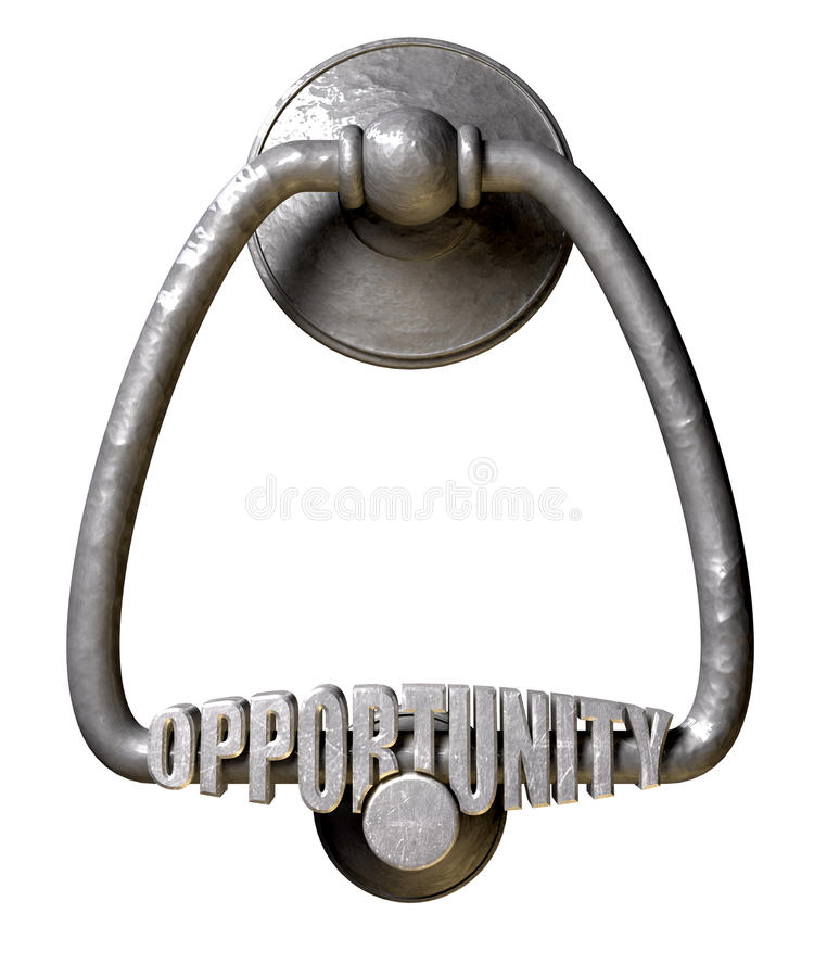 Free Opportunity Knocks Door Knocker Stock Images - 29041084