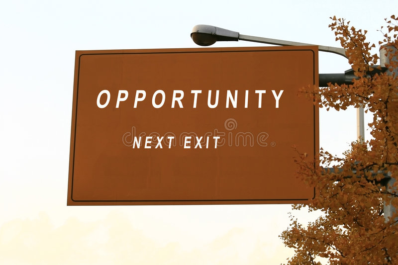 Opportunity  Sign Royalty Free Stock Photo