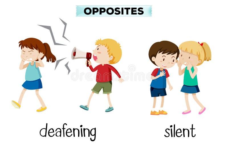 Opposúx assourdissants et silencieux illustration stock