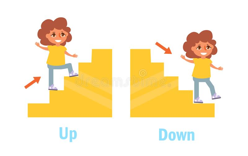Opposite Antonyms Vector stock illustration