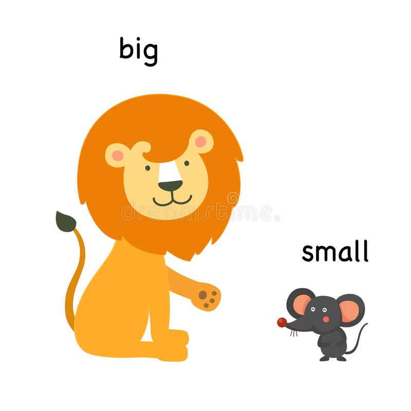 Opposite big and small. Vector illustration vector illustration