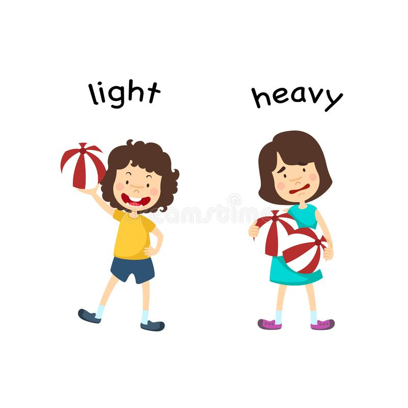 Opposite ciężki i światło royalty ilustracja