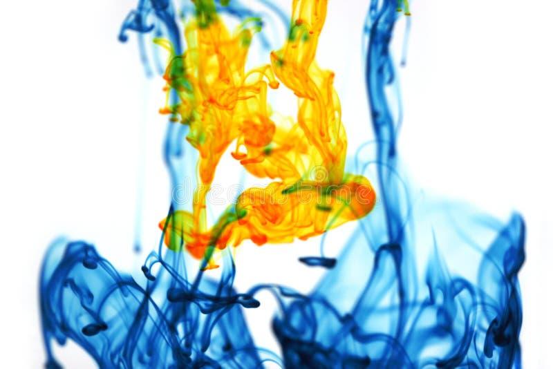 Download Opposite colors stock image. Image of liquid, yellow, flow - 172395