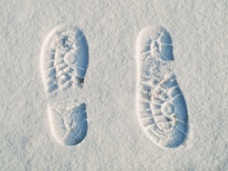 Download Opposite Direction Footprints Stock Image - Image of cold, hike: 7639481