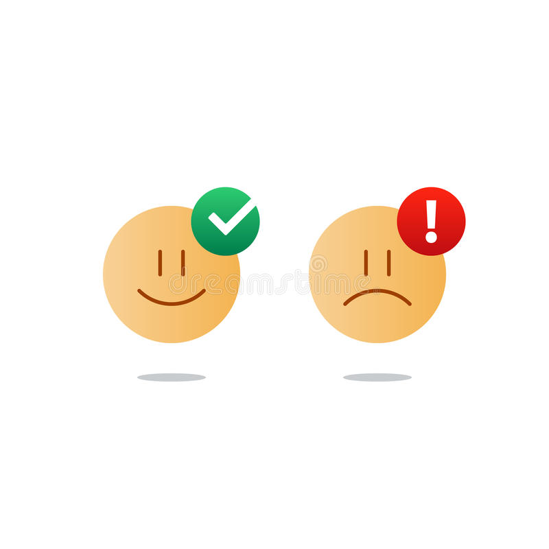 Opposite Emotions, Smile Emoji, Sad Icon, Customer ...