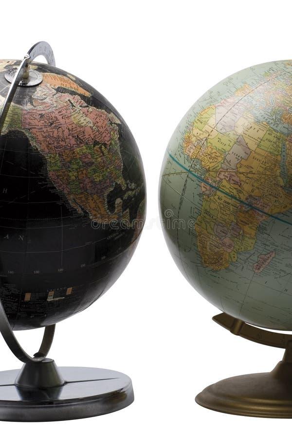 Opposite globe royalty free stock images