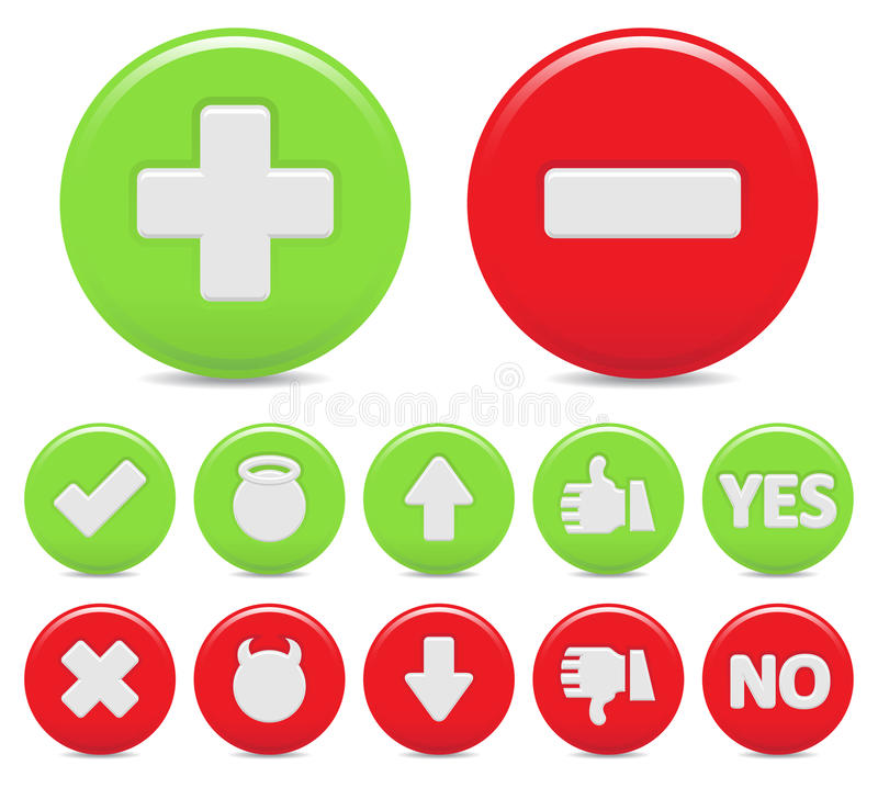 Download Opposite icons stock vector. Image of false, green, check - 19642998