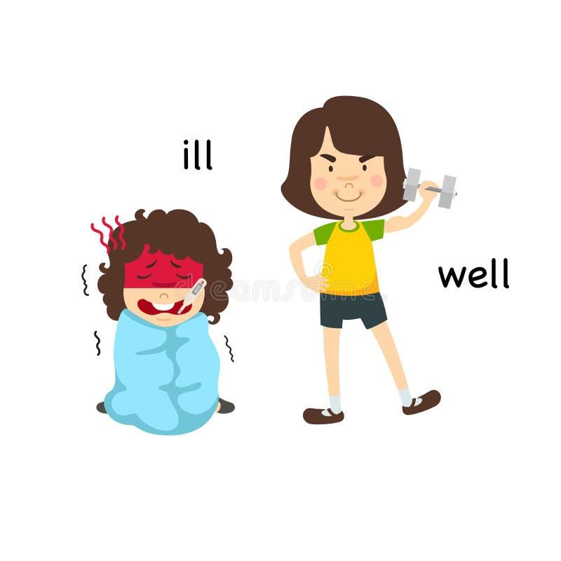 Opposite ill and noisy. Vector illustration vector illustration