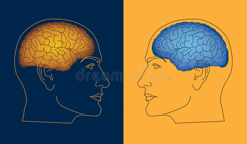Opposite Minds royalty free illustration