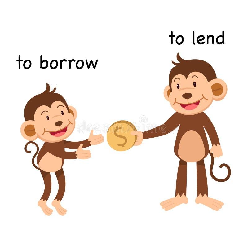 Free Opposite To Borrow And To Lend Stock Photos - 136560853