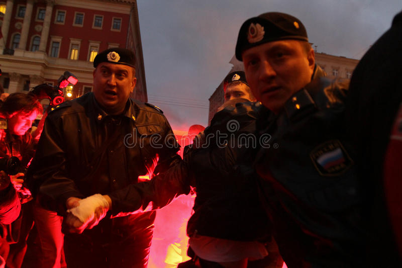 Oppositie ?Dag van Woede? in Moskou stock fotografie