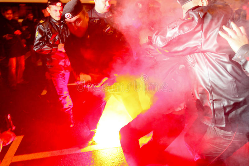 Oppositie ?Dag van Woede? in Moskou stock afbeeldingen