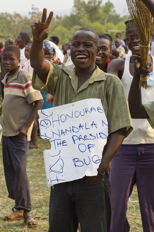 Oppositieactivist in Oeganda royalty-vrije stock afbeeldingen