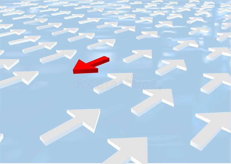 Opposition abstract conceptual background royalty free illustration