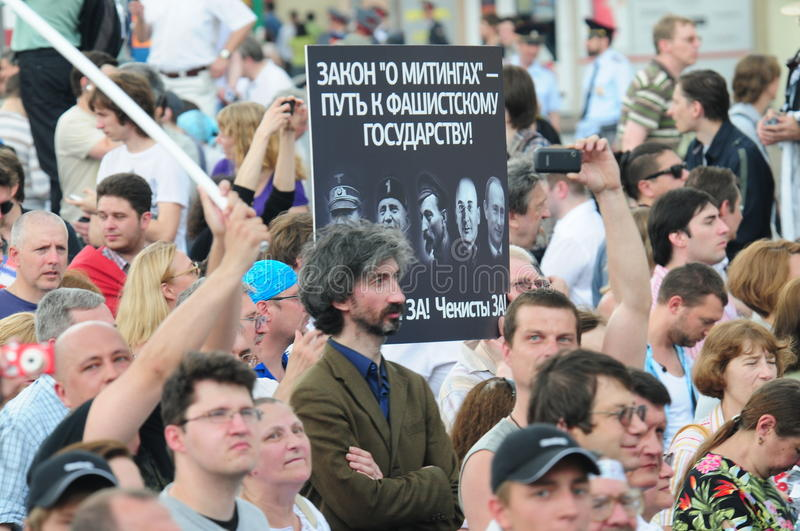 Download Opposition Meeting In Day Of Russia On The Prospec Editorial Stock Photo - Image: 25244198