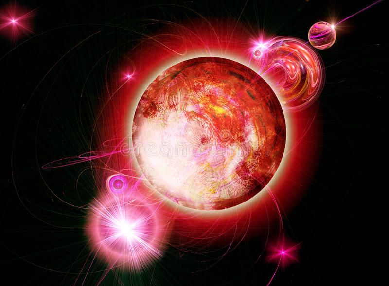 Download Opposition of planets stock illustration. Image of energy - 9436623