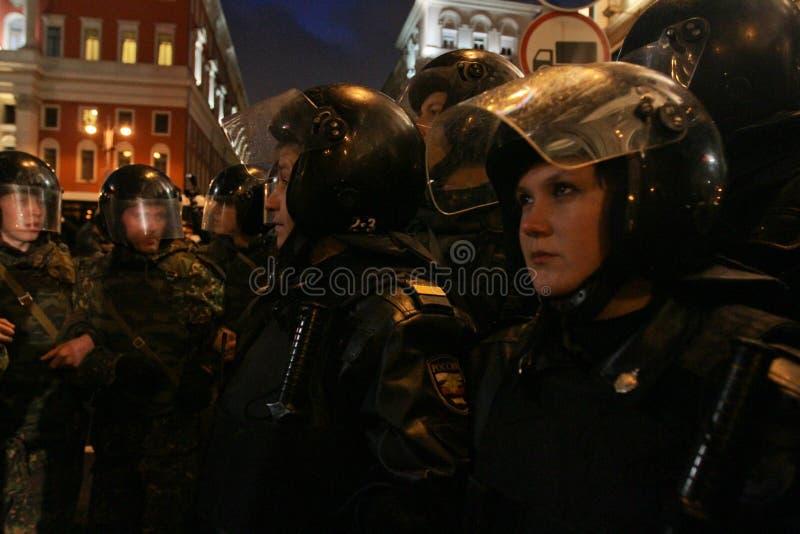 Opposition ?Tag des Zornes? in Moskau stockbilder