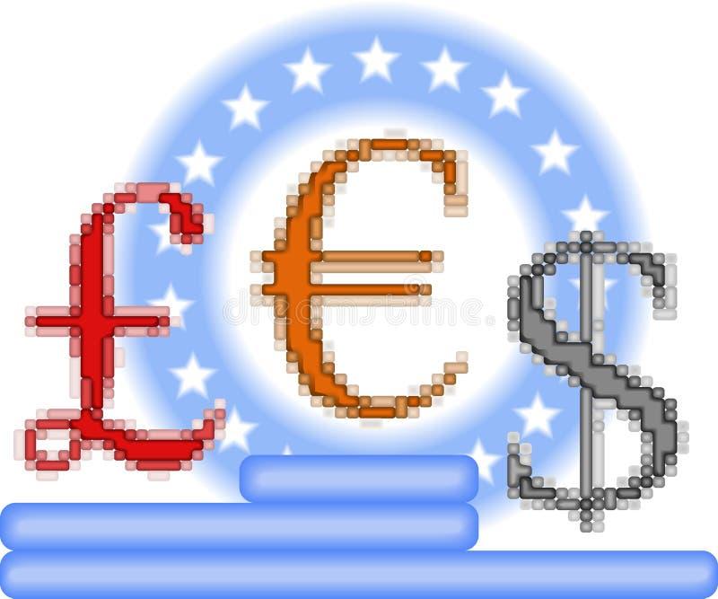 Opposizione di valuta royalty illustrazione gratis