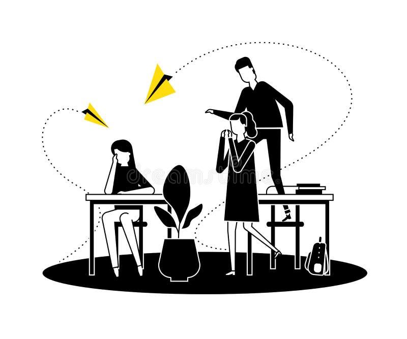 Oppressione - illustrazione piana di stile di progettazione di vettore moderno illustrazione vettoriale