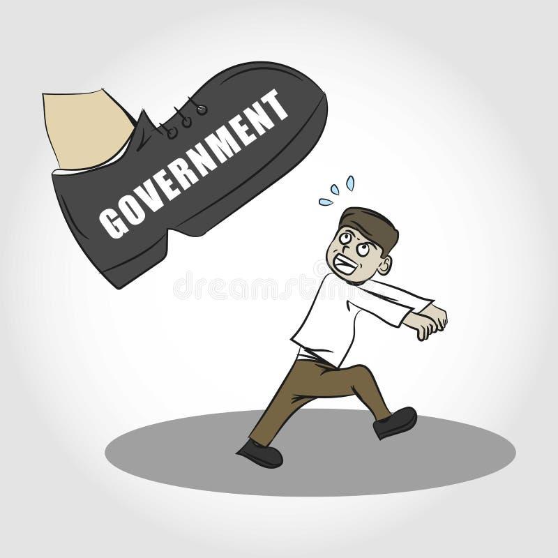 Opprimente tramite l'illustrazione di governo immagine stock libera da diritti