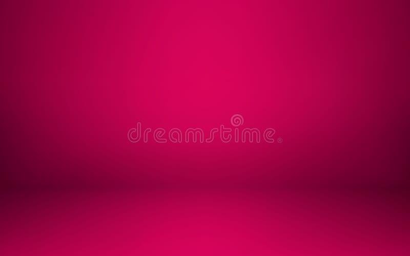Opróżnia różowego pracownianego izbowego wnętrze Czyści warsztat dla fotografii lub prezentaci również zwrócić corel ilustracji w ilustracja wektor