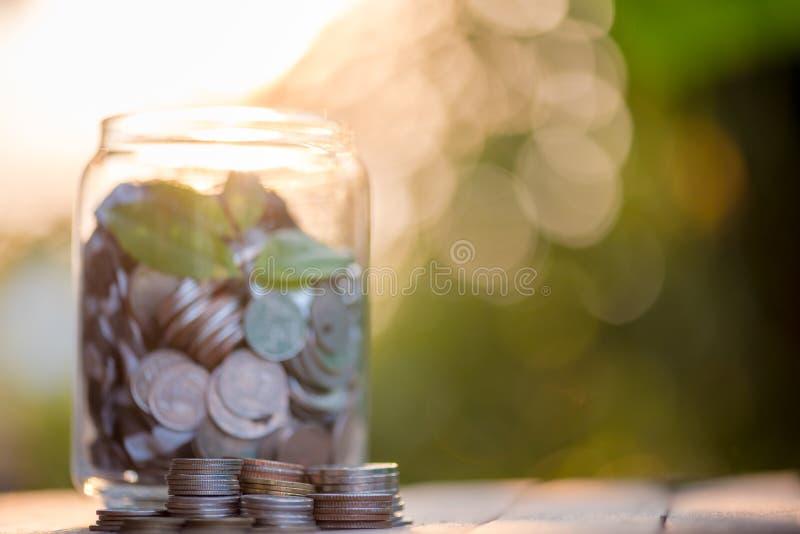 Oprócz pieniądze podczas gdy ratujący środowisko, zapoczątkowywający pieniężnych i zielonych tła obraz stock
