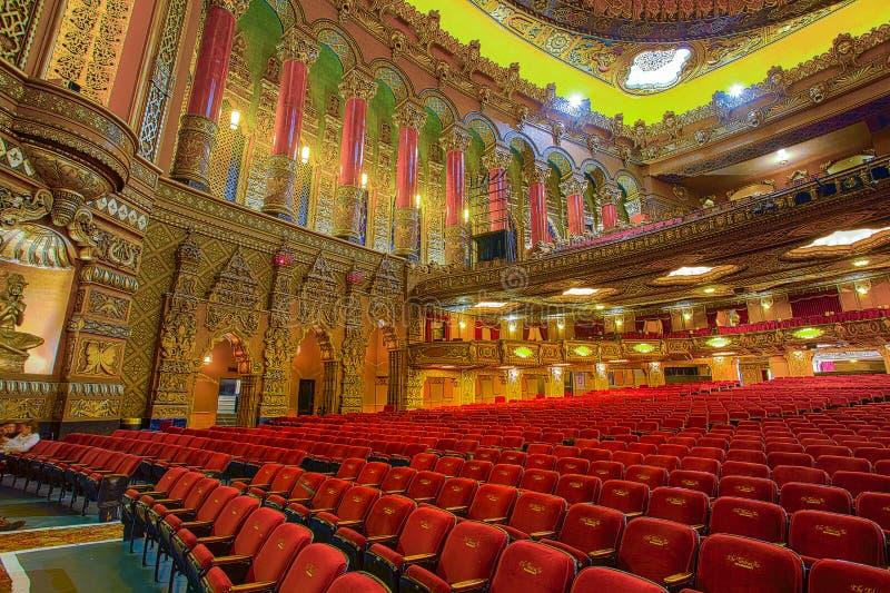 Opróżnia Bajecznie Fox teatr który jest centerpiece sztuki gromadzkie na Uroczystym fotografia stock