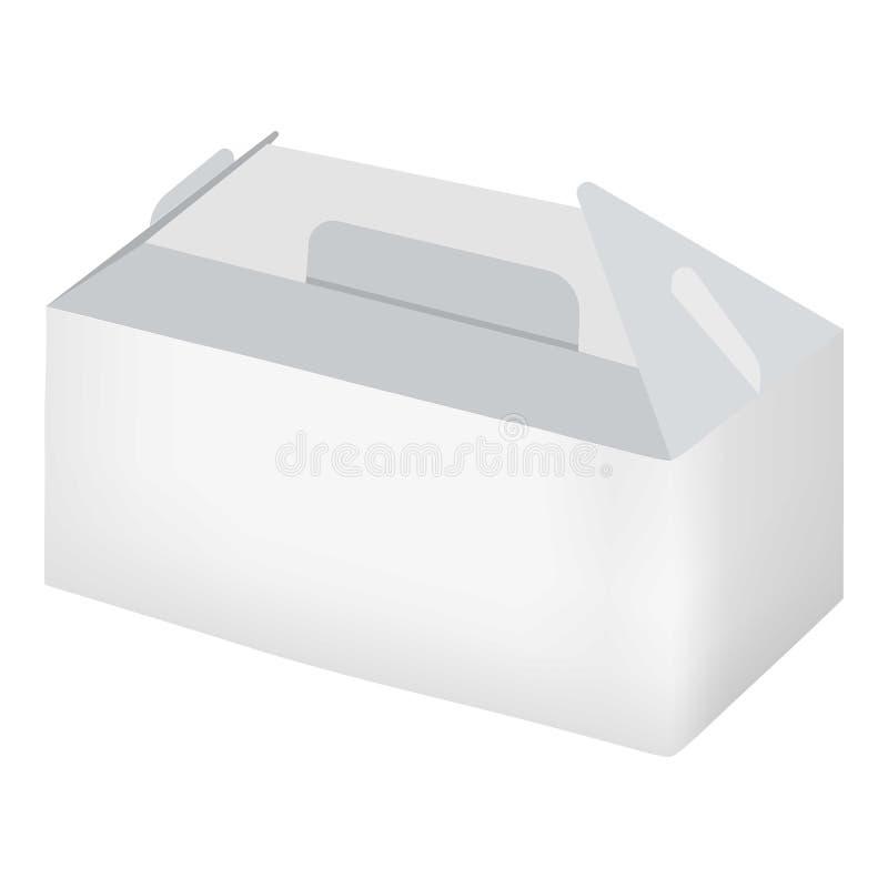 Opróżnia białego bierze out pudełkowatego mockup, realistyczny styl royalty ilustracja