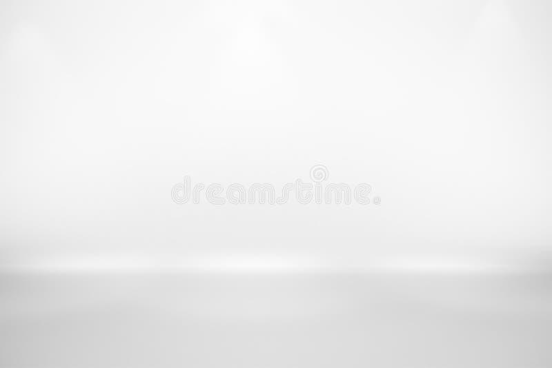Opróżnia Białego Pracownianego tło, abstrakt, gradientu popielaty tło royalty ilustracja