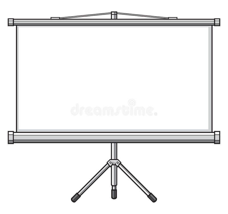 Projektoru ekran ilustracji