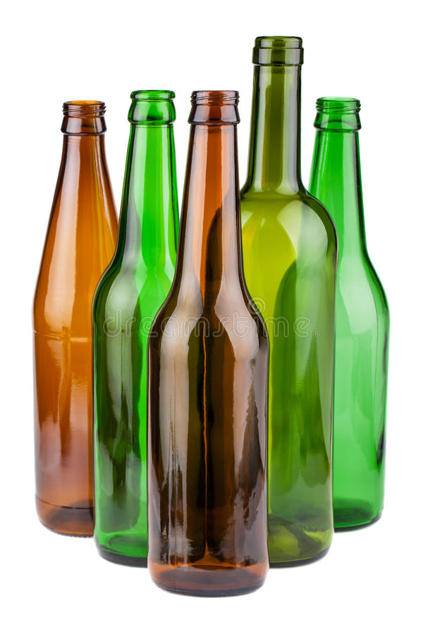 Opróżnia butelki bez etykietek obraz royalty free