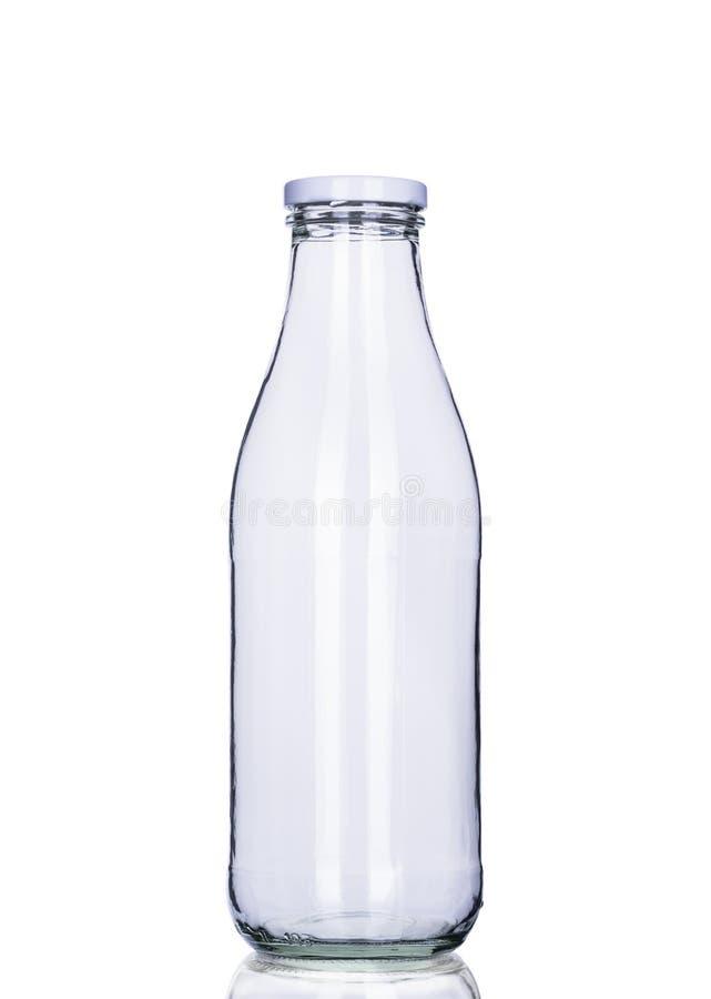 Opróżnia dojną butelkę odizolowywającą, ścinek ścieżka zawierać zdjęcie stock