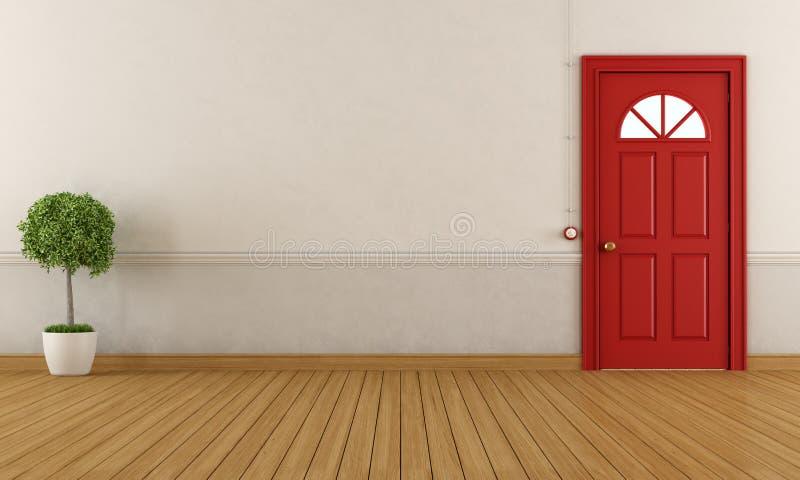 Opróżnia domowego wejście ilustracja wektor