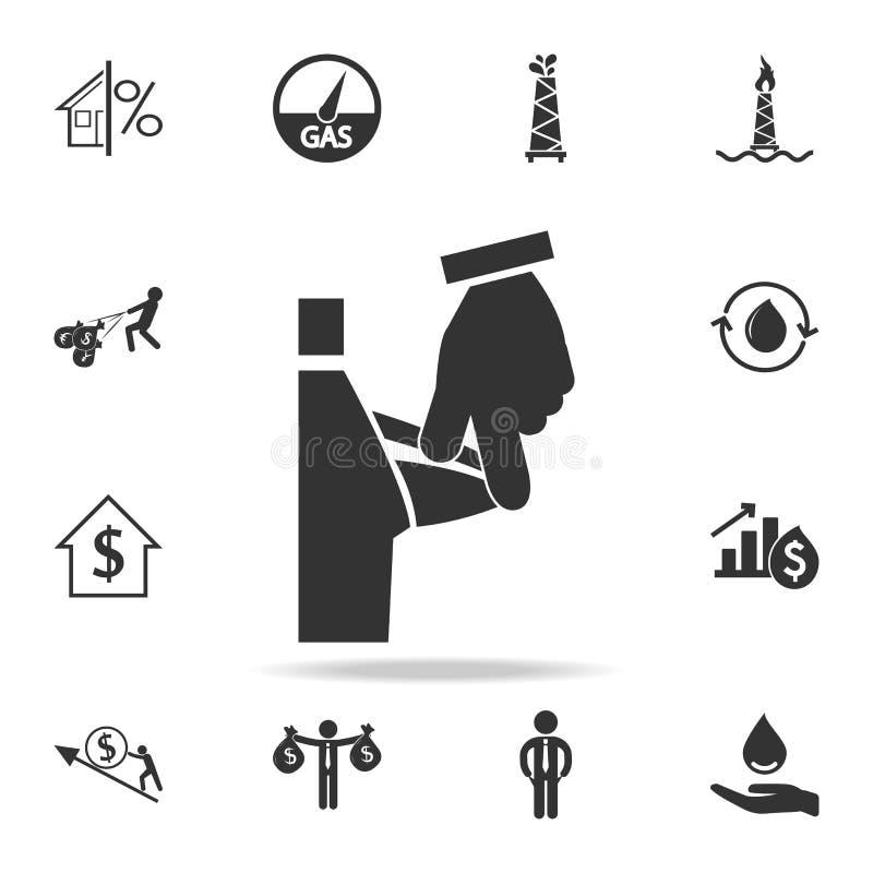 opróżnia kieszeniową ikonę Szczegółowy set finanse, bankowość i zysku elementu ikony, Premii ilości graficzny projekt Jeden colle royalty ilustracja