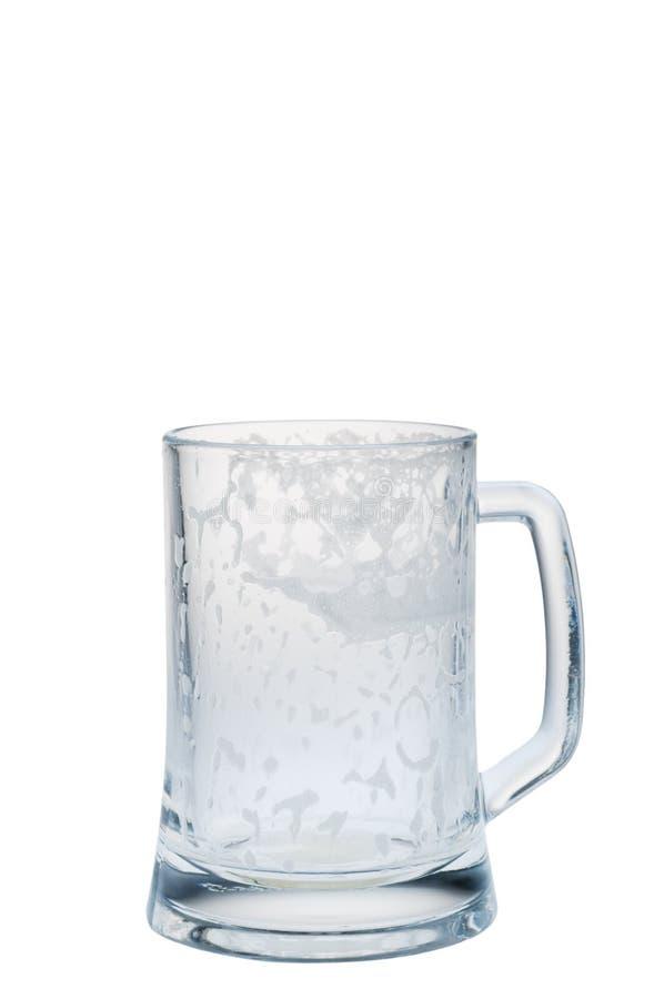 Opróżnia kubek piwo obraz royalty free