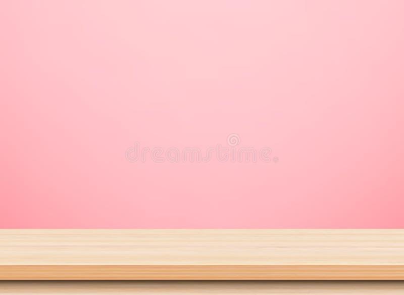 Opróżnia lekkiego drewnianego stołowego wierzchołek obrazy stock