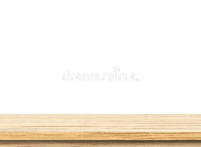 Opróżnia lekkiego drewnianego stołowego wierzchołek obrazy royalty free
