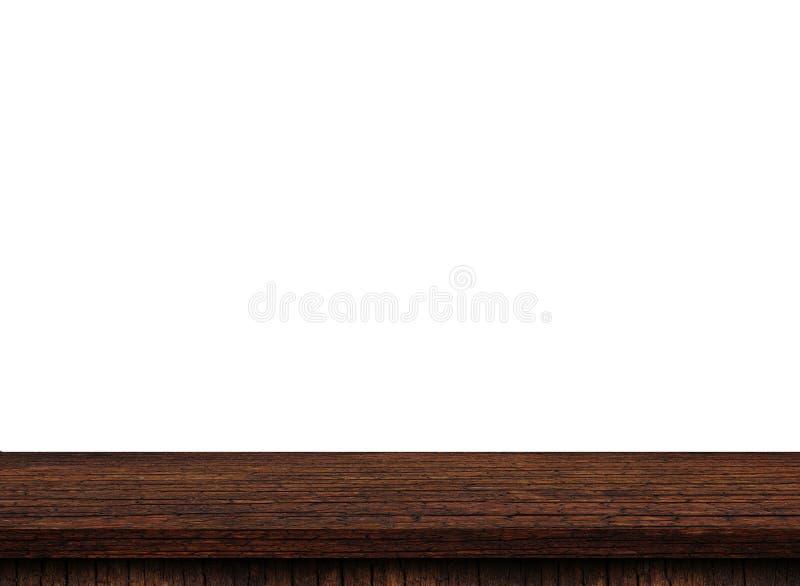 Opróżnia lekkiego drewnianego stołowego wierzchołek obraz royalty free