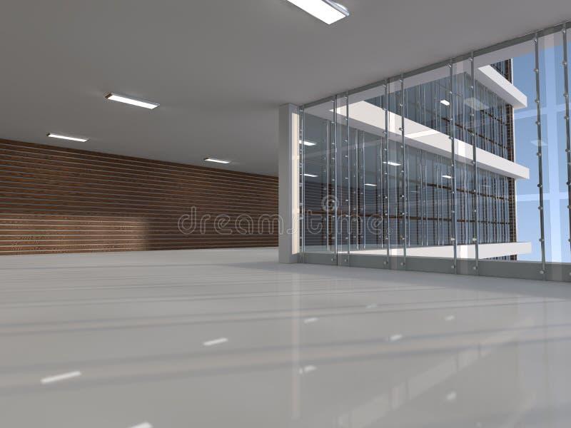 Opróżnia lekkiego dużego sala 3D rendering royalty ilustracja