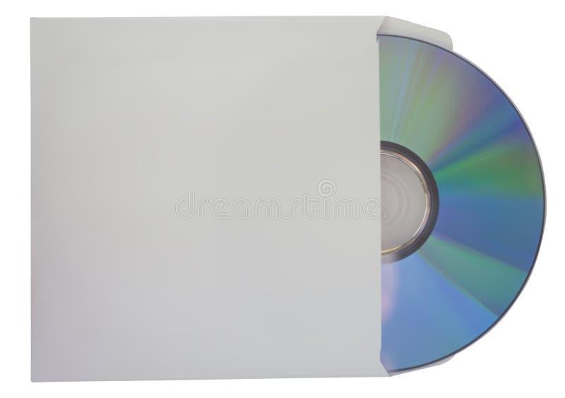 Opróżnia lub pusty cd dysk odizolowywający na bielu zdjęcia stock