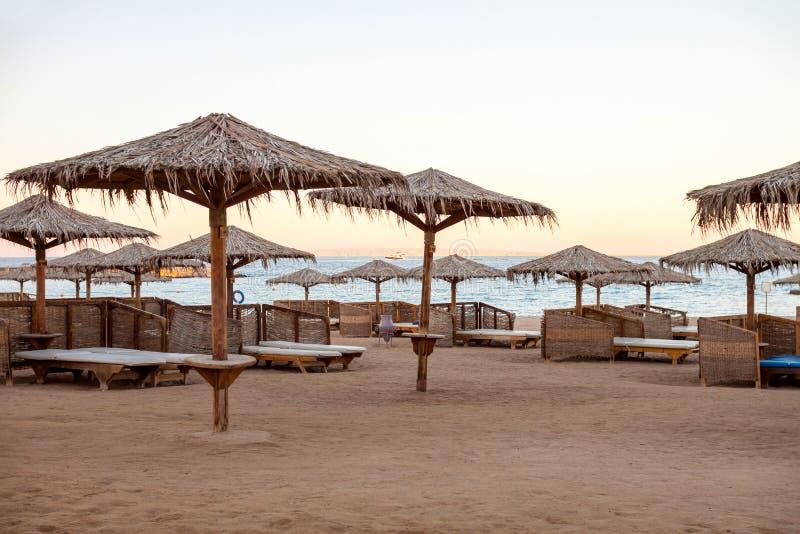 Opróżnia plażę w Egipt obrazy stock