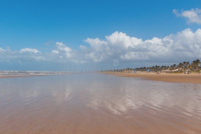 Opróżnia plażowego Aruana, Aracaju, Sergipe stan, Brazylia zdjęcie stock