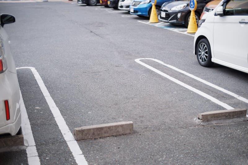 Opróżnia przestrzeń w parking fotografia royalty free