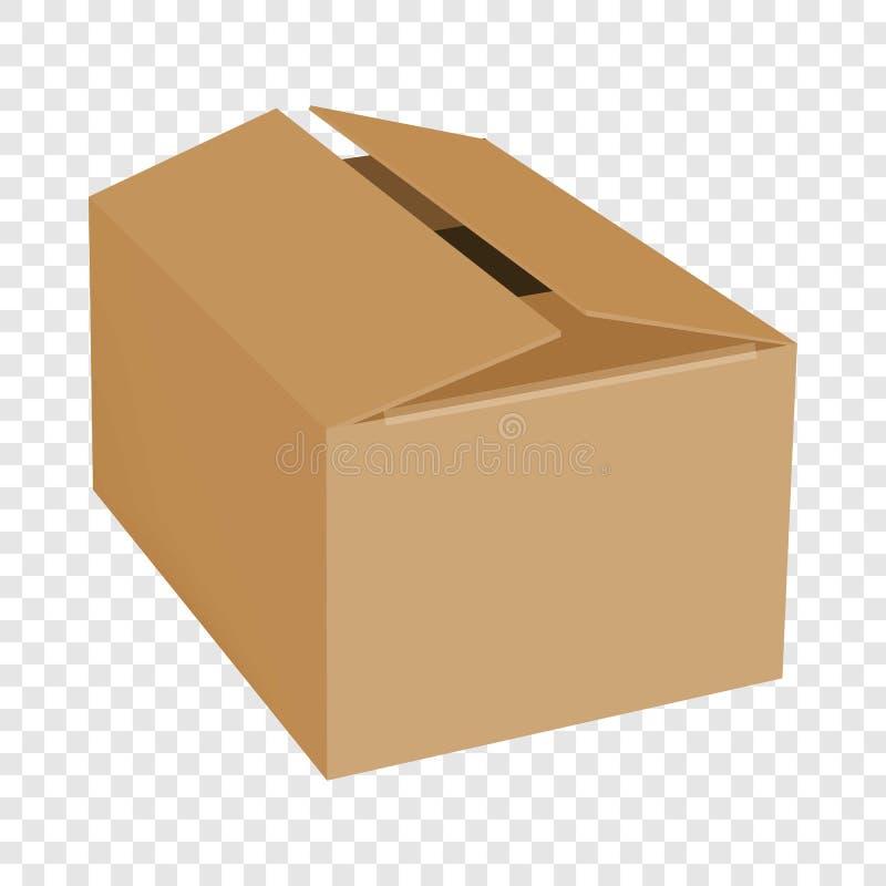 Opróżnia pudełkowatego mockup, realistyczny styl ilustracja wektor